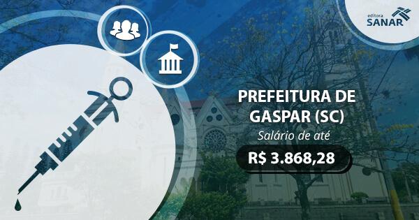 Concurso Prefeitura de Gaspar (SC) 2017: edital publicado com vagas para Enfermagem