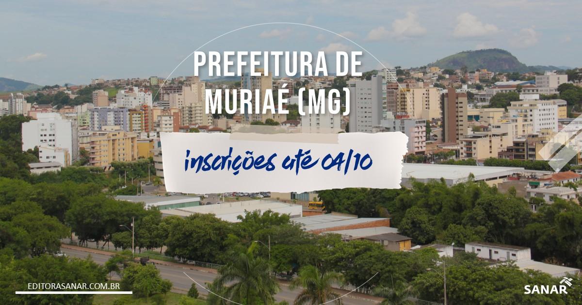Concurso de Muriaé - MG: mais de 20 vagas para a área da Saúde!