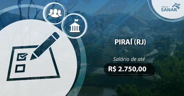 Concurso da prefeitura de Piraí (RJ) 2017: edital publicado com vagas para Enfermagem e Odontologia