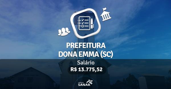 Concurso Prefeitura Dona Emma (SC): edital publicado com vagas para Médicos