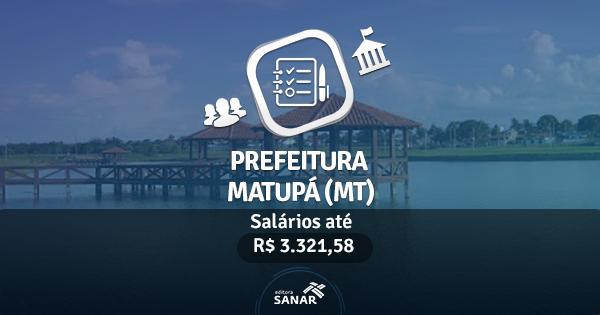 Prefeitura de Matupá (MT): edital publicado com vagas para Farmacêuticos, Enfermeiros e Nutricionistas