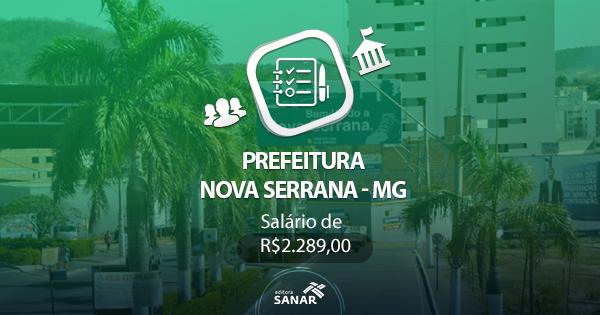 Concurso Prefeitura de Nova Serrana - MG 2017: edital divulgado com vagas em Nutrição, Psicologia e Fisioterapia