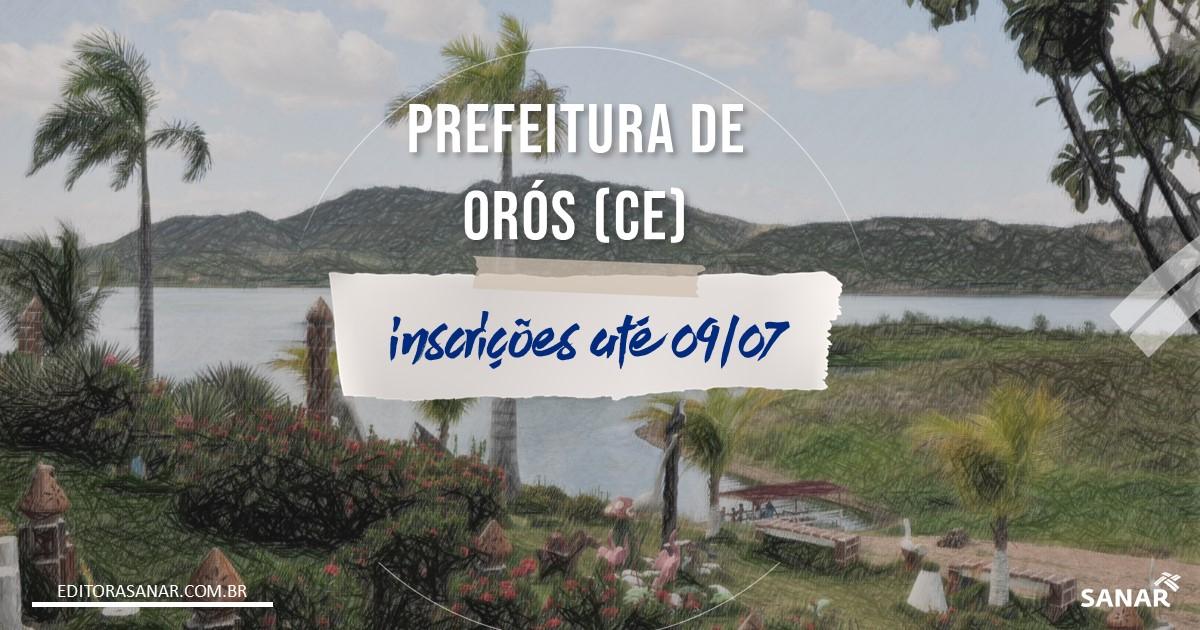 Concurso de Orós - CE: salário de até R$9,1 mil da Saúde!