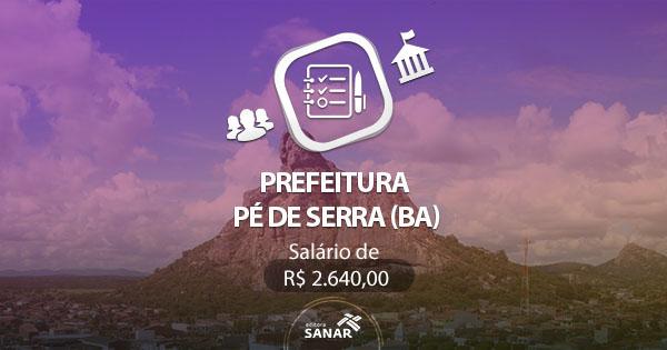 Prefeitura de Pé de Serra - BA: edital publicado com vaga para Veterinários