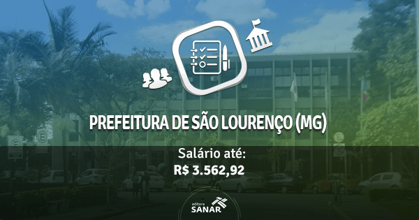 Prefeitura de São Lourenço (MG) abre concurso com vagas para Psicólogos, Enfermeiros e Fisioterapeutas
