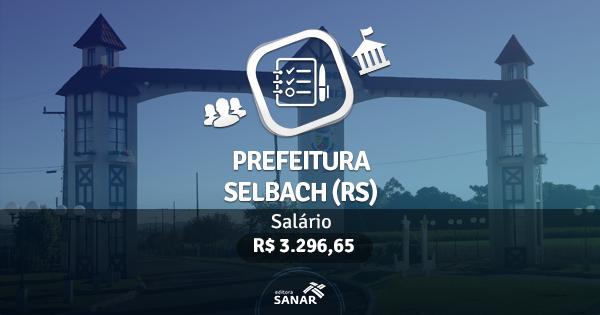 Concurso Prefeitura de Selbach (RS): edital publicado com vagas para Enfermeiros