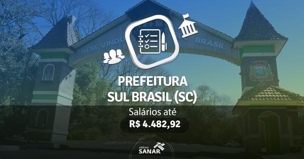 Prefeitura Sul Brasil  (SC) : Edital publicado com vagas para Farmácia