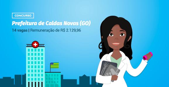 Prefeitura de Caldas Novas (GO) abre concurso público para Fisioterapeutas