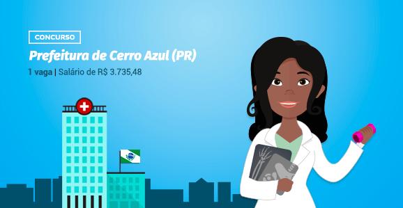 Prefeitura de Cerro Azul (PR) abre concurso público para Fisioterapeutas