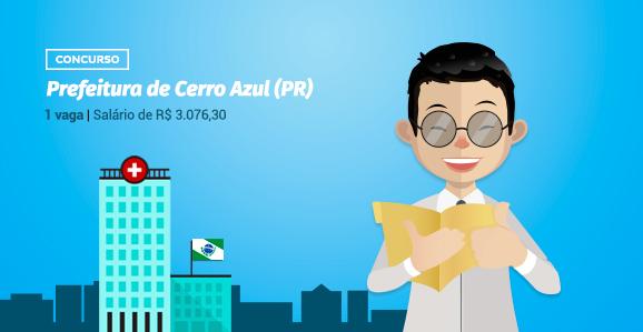 Prefeitura de Cerro Azul (PR) abre concurso público para Psicólogos