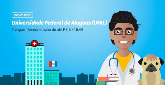 UFAL (AL) abre concurso público para Veterinários
