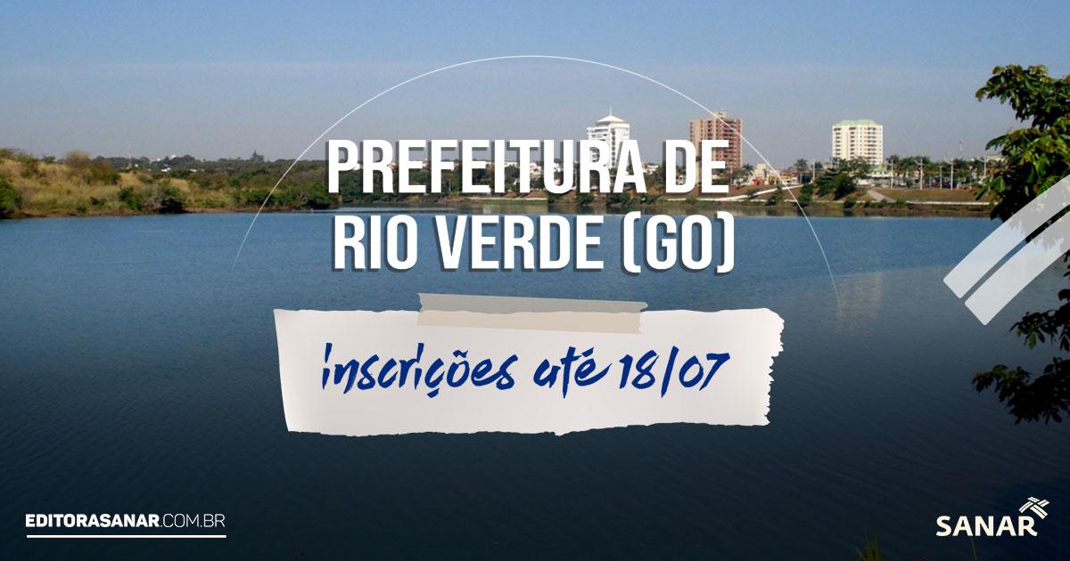 Concurso da Prefeitura de Rio Verde - GO: Salários de até R$10 mil na Saúde