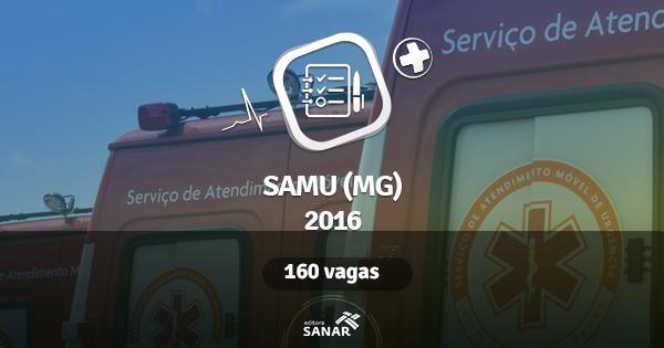 SAMU (MG) 2016 abre vagas para médico, enfermeiro e psicólogo