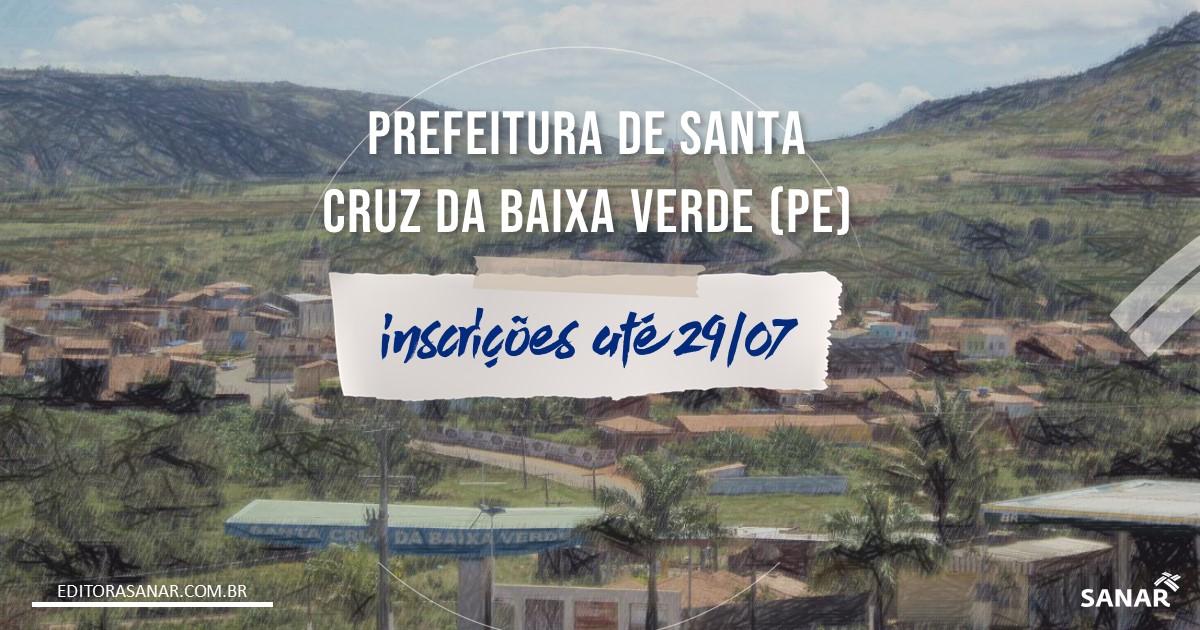 Concurso de Santa Cruz da Baixa Verde - PE: salários de até R$8 mil!