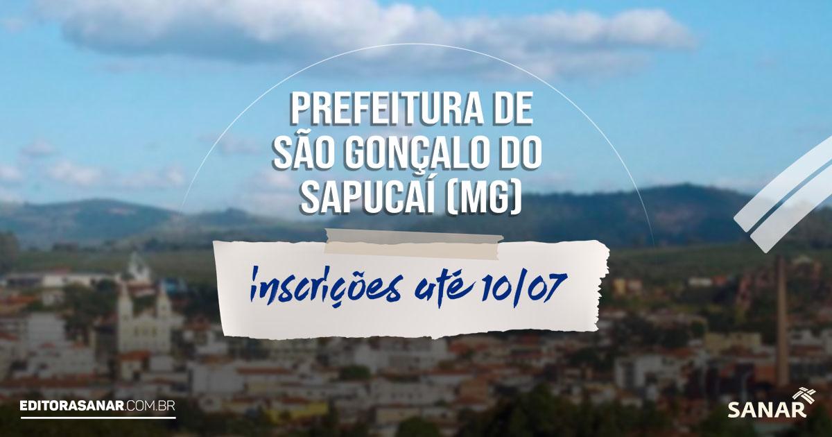 Concurso Prefeitura de São Gonçalo do Sapucaí - MG : salários de até R$7 mil