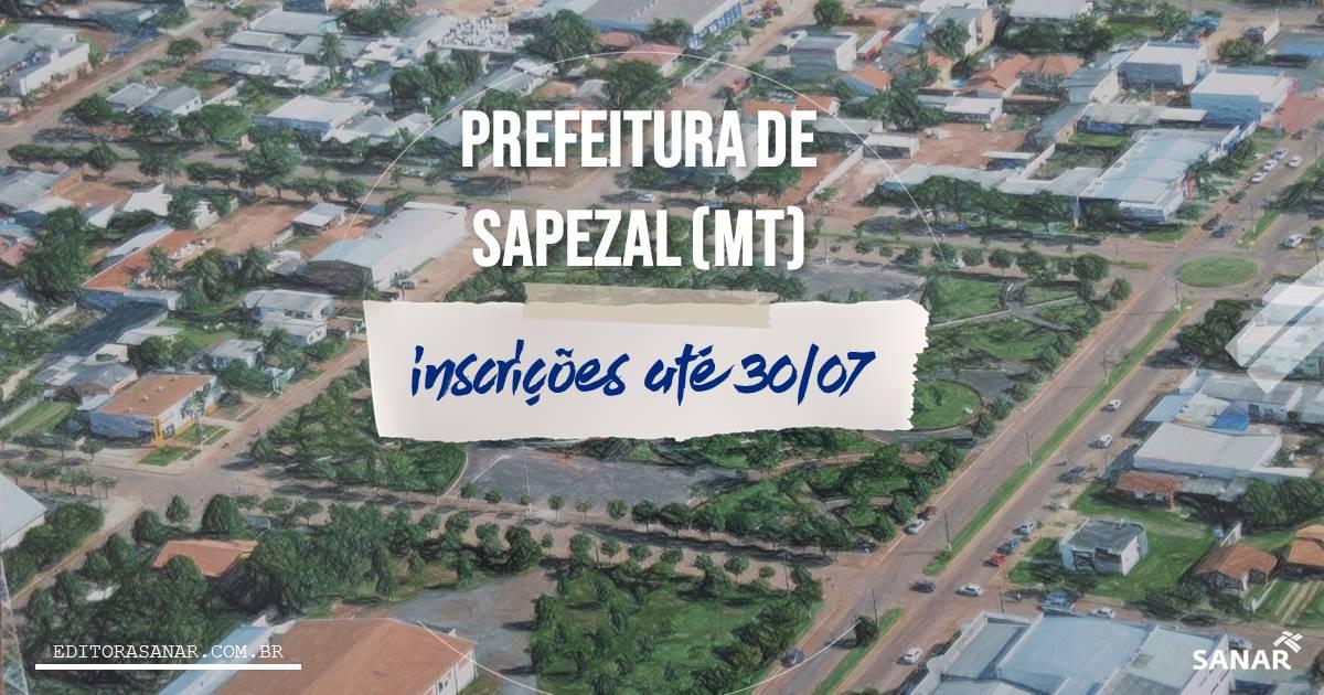 Concurso de Sapezal - MT: salários de até R$ 17,6 mil na Saúde!