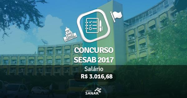 Processo Seletivo SESAB 2017: edital publicado com vagas para Farmacêuticos