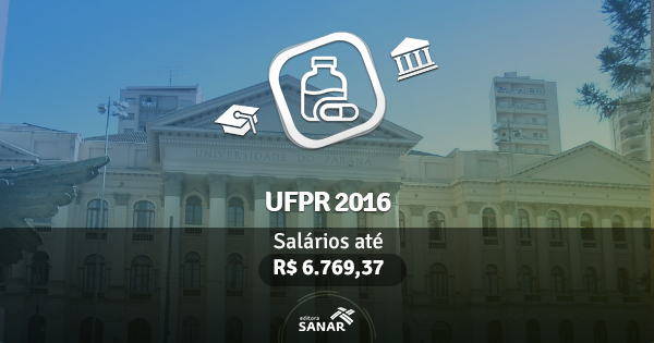 UFPR 2016 abre concurso com vagas para Farmácia