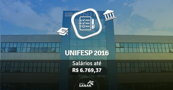 UNIFESP abre concurso com vagas para Nutricionistas, Enfermeiros, Médicos e Veterinários