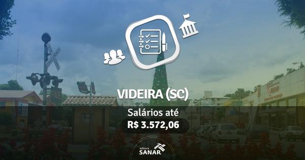 Prefeitura de Videira (SC) abre processo seletivo com vagas para Nutrição, Enfermagem, Psicologia, Odontologia e mais