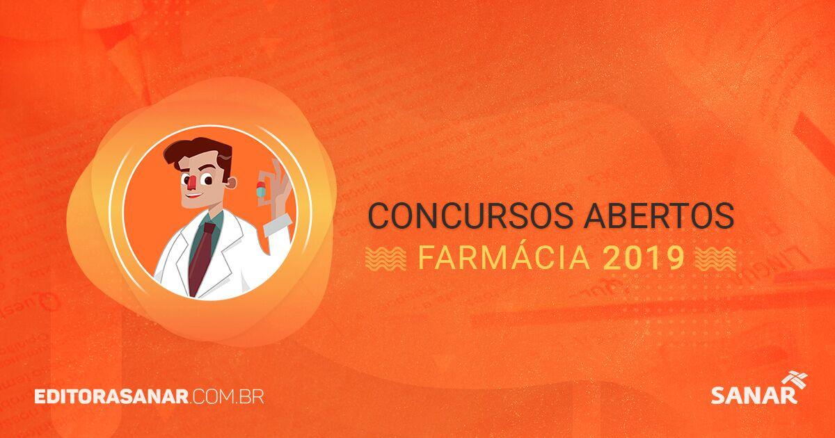 Concursos abertos com vagas para Farmacêuticos (2017)