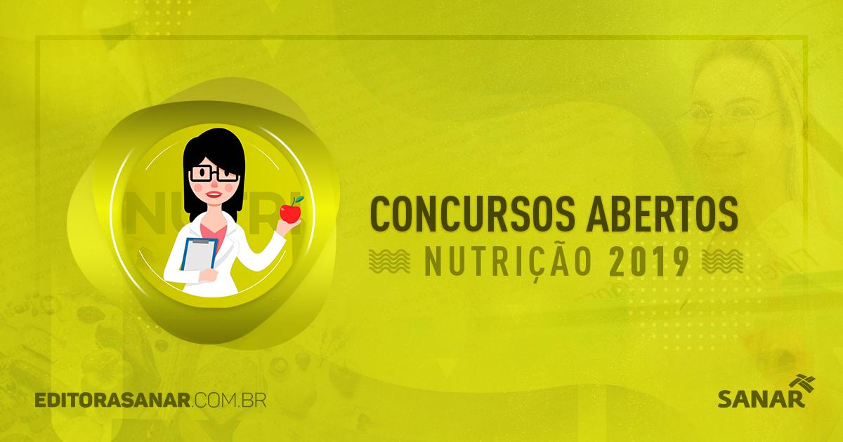 Concursos abertos com vagas para Nutricionistas (2017)
