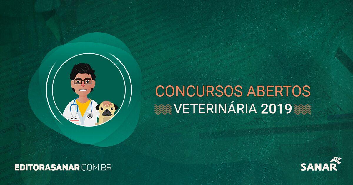 Concursos abertos com vagas para Médicos Veterinários (2017)