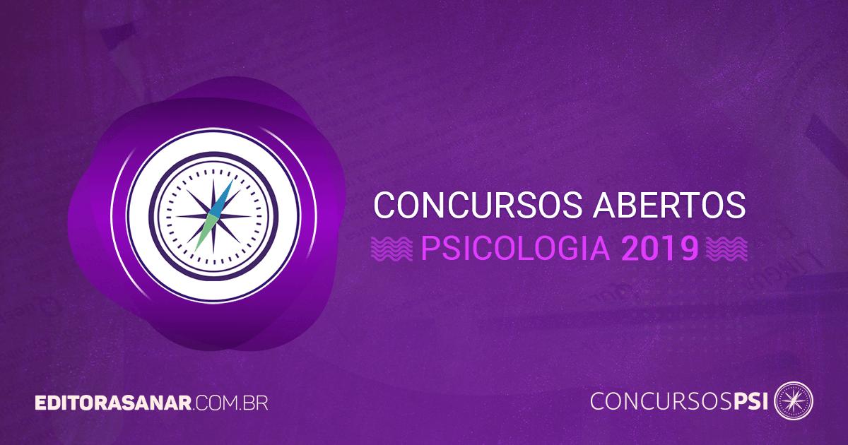 Concursos abertos com vagas em Psicologia (2017)