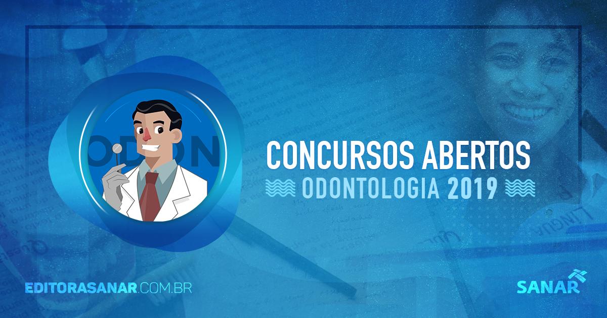 Concursos abertos com vagas em Odontologia (2017)