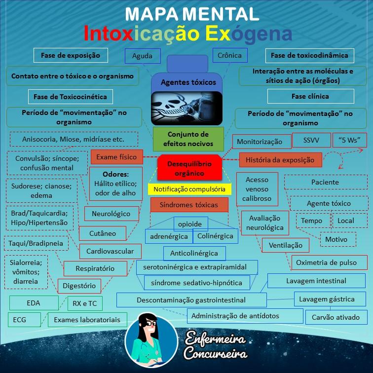 Mapa Mental de Intoxicação Exógena | Enfermagem