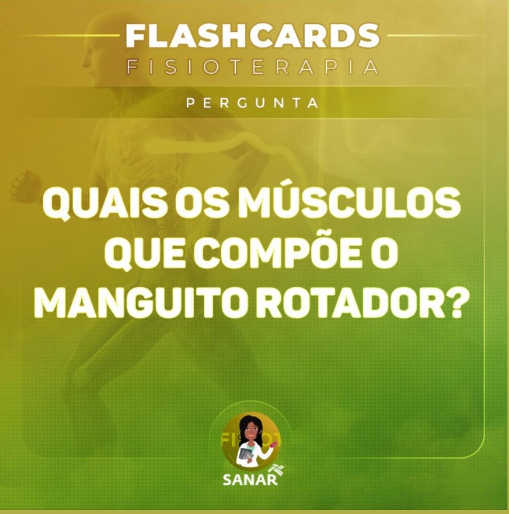 Flashcard sobre Manguito Rotador   Fisioterapia