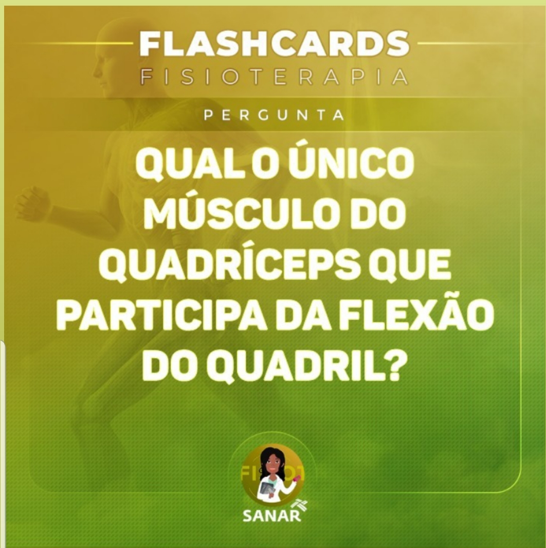 Flashcard sobre Músculos do Quadril | Fisioterapia
