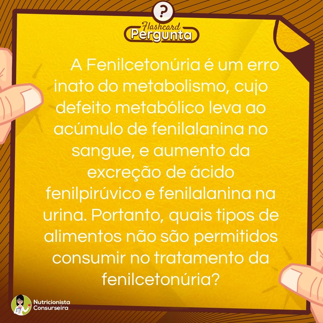 Flashcard de Fenilcetonúria