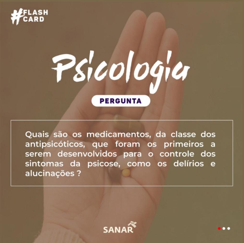 Flashcard sobre Antipsicóticos | Psicologia