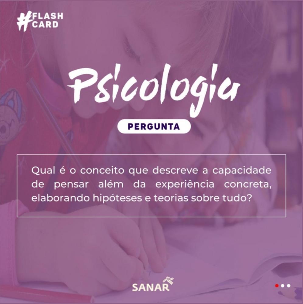 Flashcard sobre Pensamento Dedutivo | Psicologia