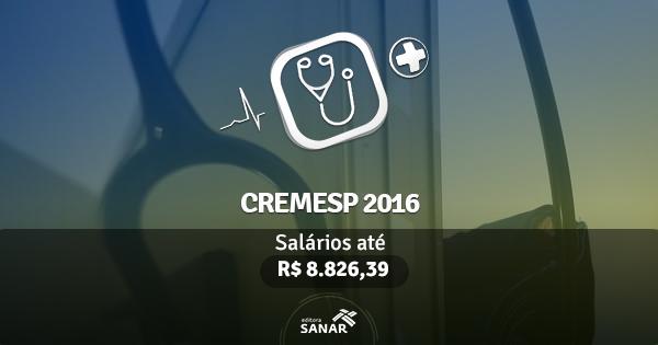 CREMESP 2016 São Paulo lança edital para médicos