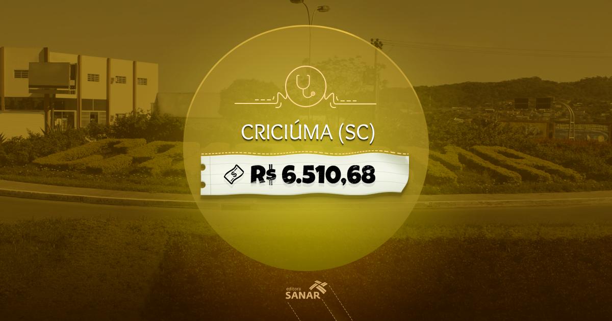 Prefeitura de Criciúma - SC abre Processo Seletivo com 79 vagas para saúde