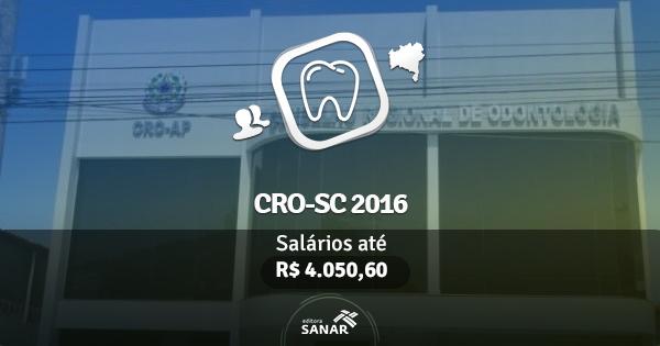 CRO-SC 2016 abre vaga para Dentistas