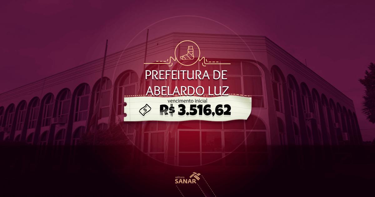 Prefeitura de Abelardo Luz (SC): edital divulgado com vagas para Medicina Veterinária