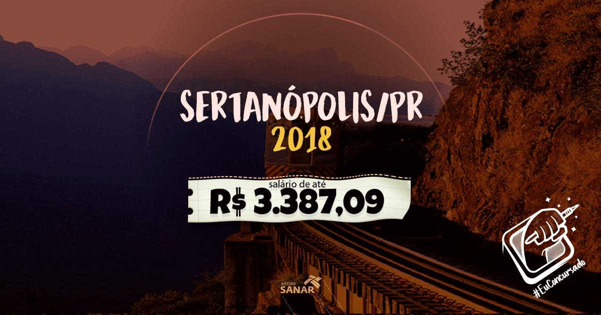 Prefeitura Municipal de Sertanópolis (PR): oportunidades para veterinários e psicólogos