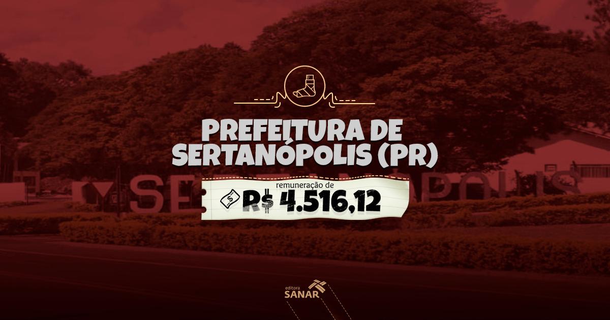 Prefeitura de Sertanópolis PR 2017/2018: inscrições abertas para enfermeiros e mais