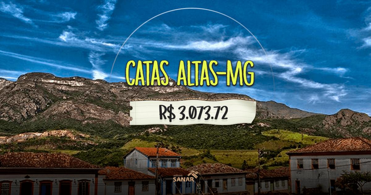 Prefeitura de Catas Altas (MG): oportunidade para nutricionistas