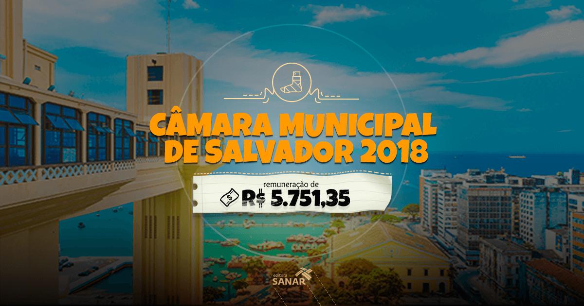 Concurso Câmara Salvador 2018: Inscrições abertas com oportunidade para Dentistas