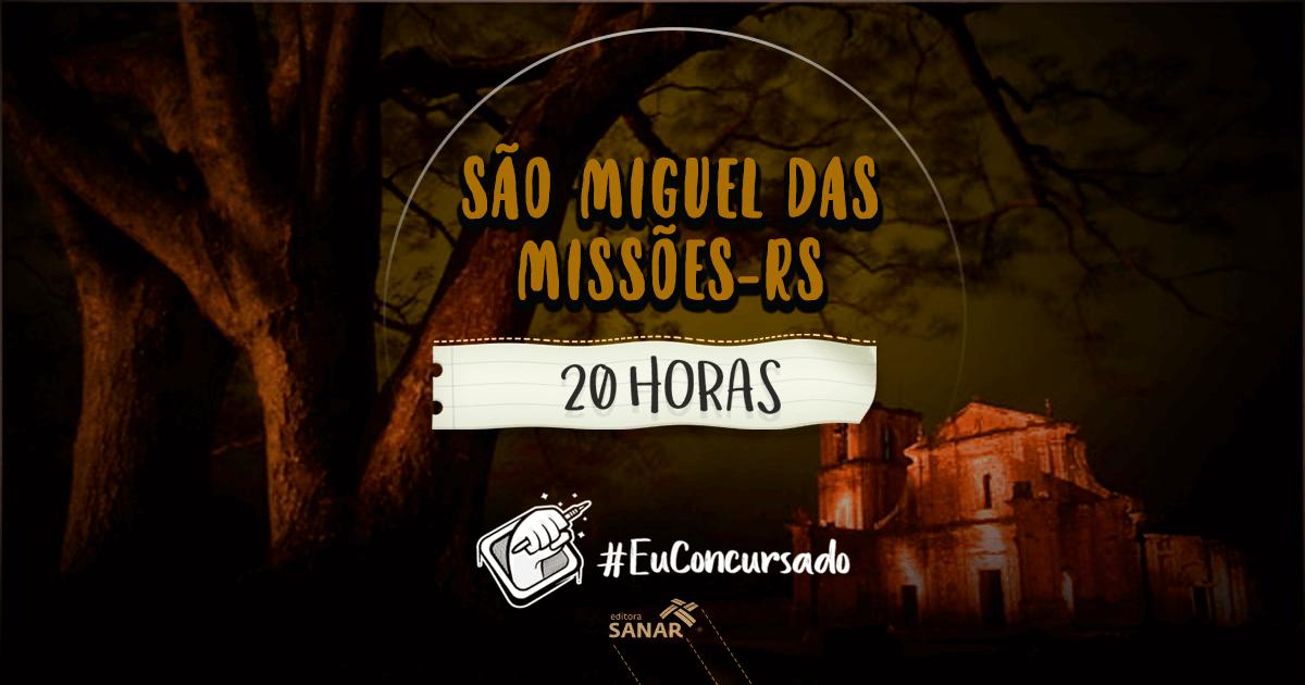 Concurso São Miguel das Missões (RS): vagas para nutricionistas, farmacêuticos, veterinários e médicos