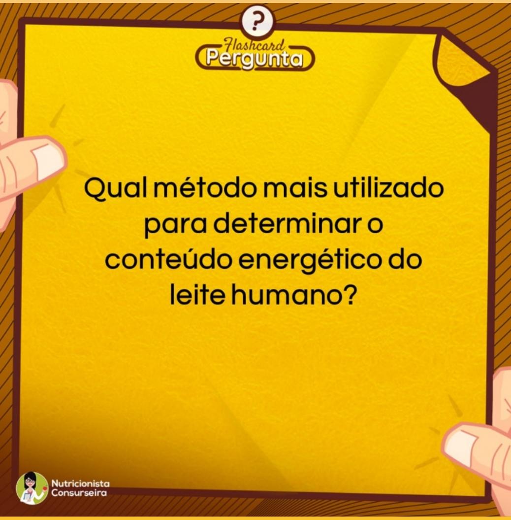 Flashcard de Conteúdo Energético do Leite