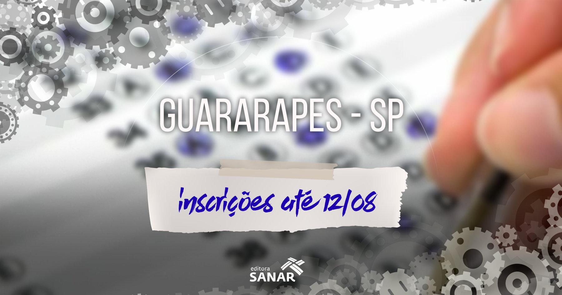Concurso: Prefeitura de Guararapes divulga edital