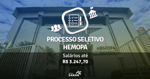 HEMOPA (PA) abre inscrições para Processo Seletivo
