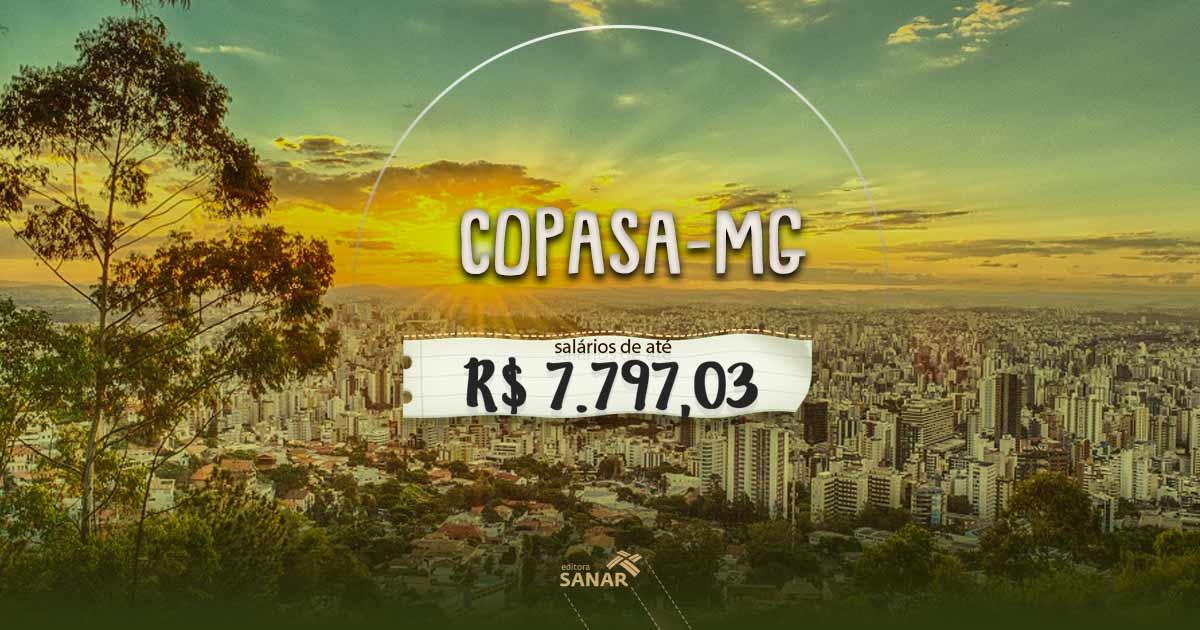 Concurso COPASA (MG): vagas para psicólogos, médicos e enfermeiros