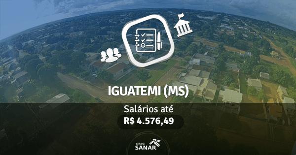 Concurso Prefeitura de Iguatemi (MS): processo seletivo aberto com vagas para Farmácia, Odontologia, Nutrição e  mais