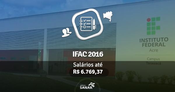 IFAC 2016 abre concurso com vagas para Psicologia